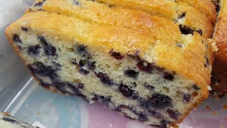 Thermomix banana & blueberry cake